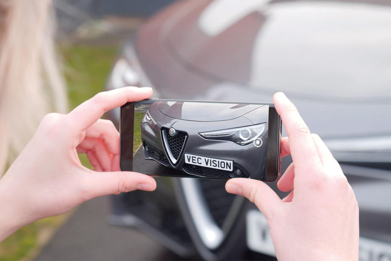 Customer using Vehicle Vision Assist - Appraisal video app